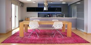 contemporary kitchen room with pink rug overdyed rugs persian canada overdyed rugs