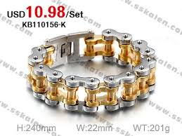 cool biker bicycle motorcycle chain men s bracelets bangles