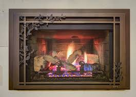 25 live fireplaces on display