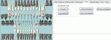 Open Dental Software Primary Permanent Teeth