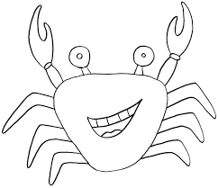 Small Picture Crab Coloring Pages Template To Color Crab Coloring Pages Crab