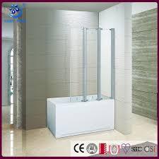 tri folding frameless shower screen over bath door kd3202t