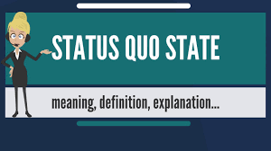 what does status quo state mean