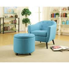 Blue And Brown Accent Chair Home Decorators Collection Modern Fabric Accent Chair In Turquoise