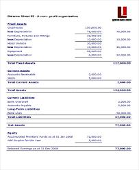 4 Non Profit Sheet Templates Free Samples Examples Format