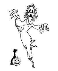 Small Picture Free Scary Halloween Coloring Pages Coloring Home