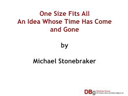 Michael Stonebraker Mit Session