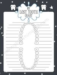 Tooth Chart For Losing Teeth Charts Printable Lost Tooth Tooth Fairies Tooth Care