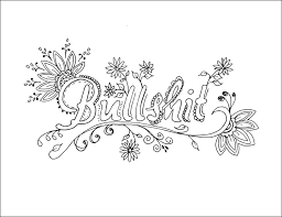 Small Picture Swear Words Coloring Pages Adult Butterfly and Animal templates