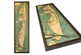 Wood Bathymetric Charts Wooden Bathymetric Water Depth Charts For Various Bodies Of Water