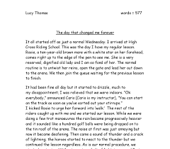 the day that changed my life essay the day that changed my life forever a day that changed my life a day i will never forget how epilepsy changed my life gilbert lutes essay