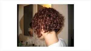 Short Curly Hair Reverse Bob