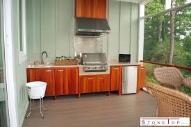 diy outdoor kitchen with concrete countertops and sink how to tile natural stones stone