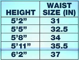 Healthy Waist Size Chart Are You Healthy Use This Chart To Find Out Your Waist Size