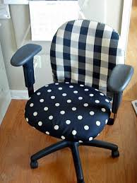 office chair covers. Wonderful Covers Fabric And Slipcovered Office Chair Makeover Inside Covers