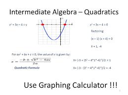 Intermediate Algebra Quadratic Formula Ppt Download