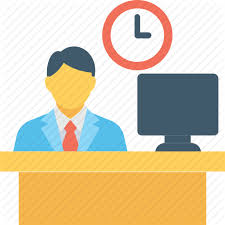Employee Office Desk Employee Office Office Desk Worker Icon