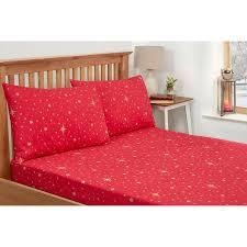 kids stars single sheet set red