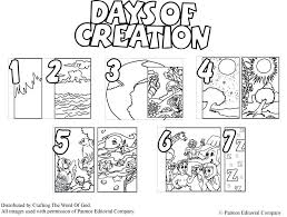 Days Of Creation Coloring Pages A Crafting The Word Of God Creation
