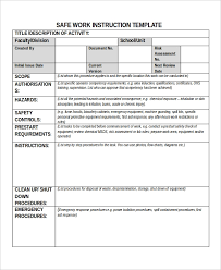 Work Instruction Template 9 Work Instruction Templates Free Sample Example Format