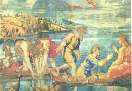 Культура и искусство Новозаветные сюжеты в живописи Чудеса  Рафаэль Чудесный улов 1515 1516 Лондон Национальная галерея