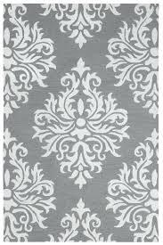 grey ivory damask hand tufted carpet