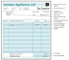 Tax Invoices Running A Business