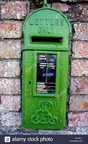 Green Letter Box In Wall Edward Vii Royal Cypher Donacarney