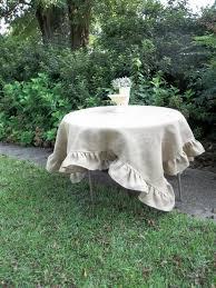custom burlap tablecloth ruffled tablecloth burlap table cloth 70 wedding decorations table decor french country farmhouse round burlap 2678358 weddbook