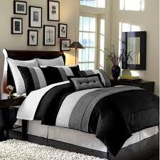 gray white black bedroom. Simple White Chezmoi Collection 86 By 88Inch 8Piece Luxury Stripe Comforter BedinaBag  Set FullDouble BlackWhiteGrey  Walmartcom With Gray White Black Bedroom W