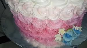 Lapis Surabaya Motif Bunga Dua Tingkat Red Gradation Wedding Cake