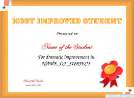 Most Improved Student Template Free To Customize Download
