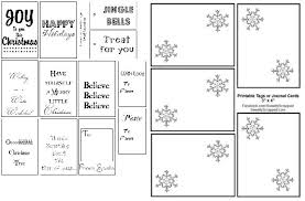 Christmas Labels Black And White Festival Collections