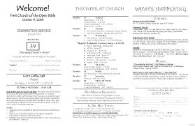 Templates For Church Programs Church Bulletin Templates Free For Service Programs