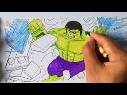 Hulk coloring pages ,hulk shows his strenght,big superhero coloring pages tv. Lego Hulk Smash The Blocks The Hulk Coloring Pages Sailany Coloring Kids Youtube