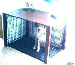 furniture dog crates end table side crate to go over diy console f dog cage with a table