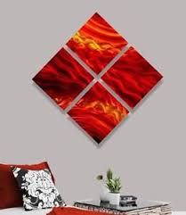 image is loading red contemporary 4 piece metal wall art accent  on 4 piece metal wall decor with red contemporary 4 piece metal wall art accent modern decor by jon
