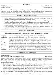 Sample Software Developer Resume Free Resumes Tips