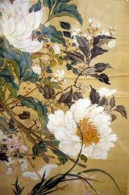 an 18th century pair of two beautiful ink and color on silk paintings from china