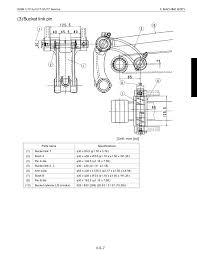 Excavator Bucket Pin Size Chart Kubota U17 3 Micro Excavator Service Repair Manual