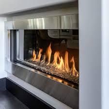 contemporary gas fireplaces 9 best modern peninsula gas fireplace 3 sided images on