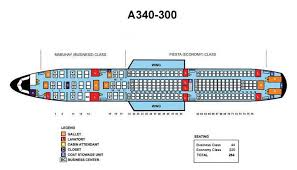 Airbus A340 Jet Seating Chart Philippine Airlines Airbus A340 300 Aircraft Seating Chart
