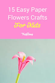 Make Easy Paper Flower 15 Easy Paper Flowers Crafts For Toddlers Preschoolers And