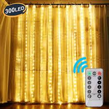 Ootoo Lichtervorhang 300 Leds Lichterketten Lichterkettenvorhang
