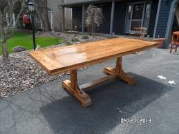 Make Your Own Kitchen Table Trestle Table Plans For Free Handmade From This Plan Projects