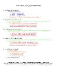 argumentative essay writing sample of argumentative essay writing  image result for outline of argumentative essay sample