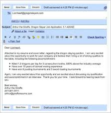 Emailing A Cover Letter And Resume Sample Email Cover Letter For