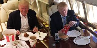 Image result for trump kfc air force one