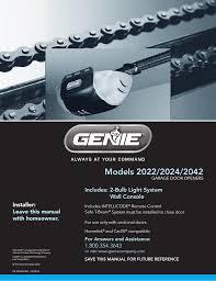 Genie Garage Door Light Not Working Genie Garage Door Opener 2024 Users Manual Manualzz Com