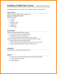 High School Student Resume Examples Magnificent Resume High School Student Lezincdc